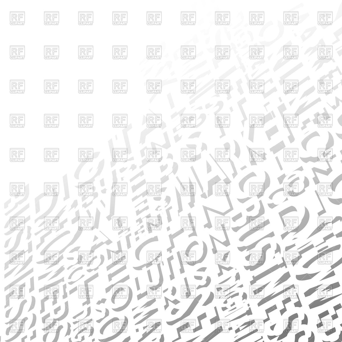 White background consisting of words Vector Image of Backgrounds 1200x1200