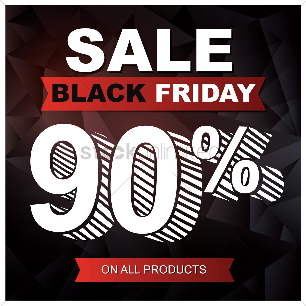 Black friday sale wallpaper Vector Image   1583919 StockUnlimited 1300x1300