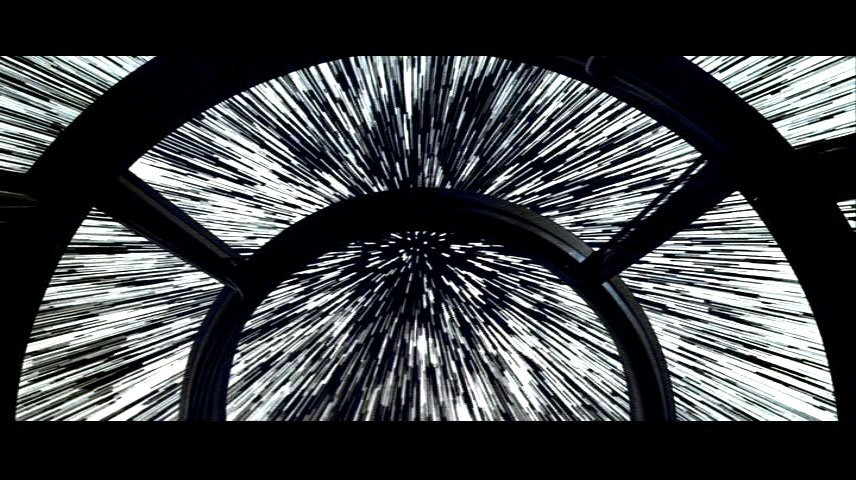 Inside the Millennium Falcon | Blue-shifted entry and exit starlines ...