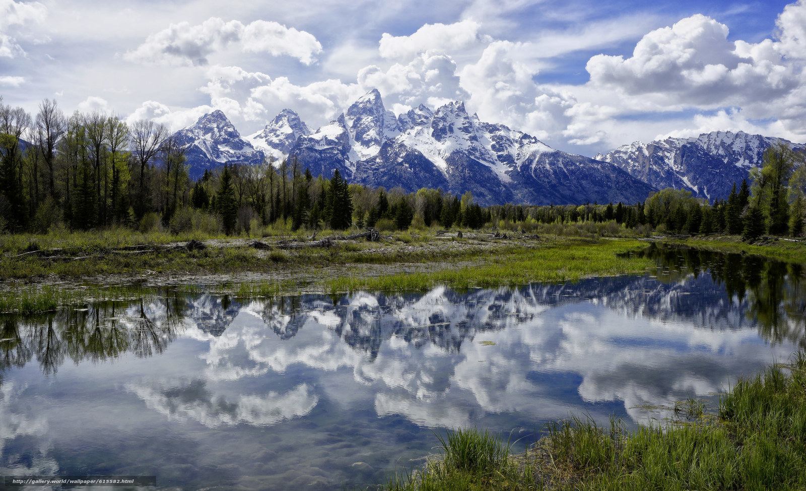 Jackson Hole Wyoming desktop wallpaper in the resolution 1600x974