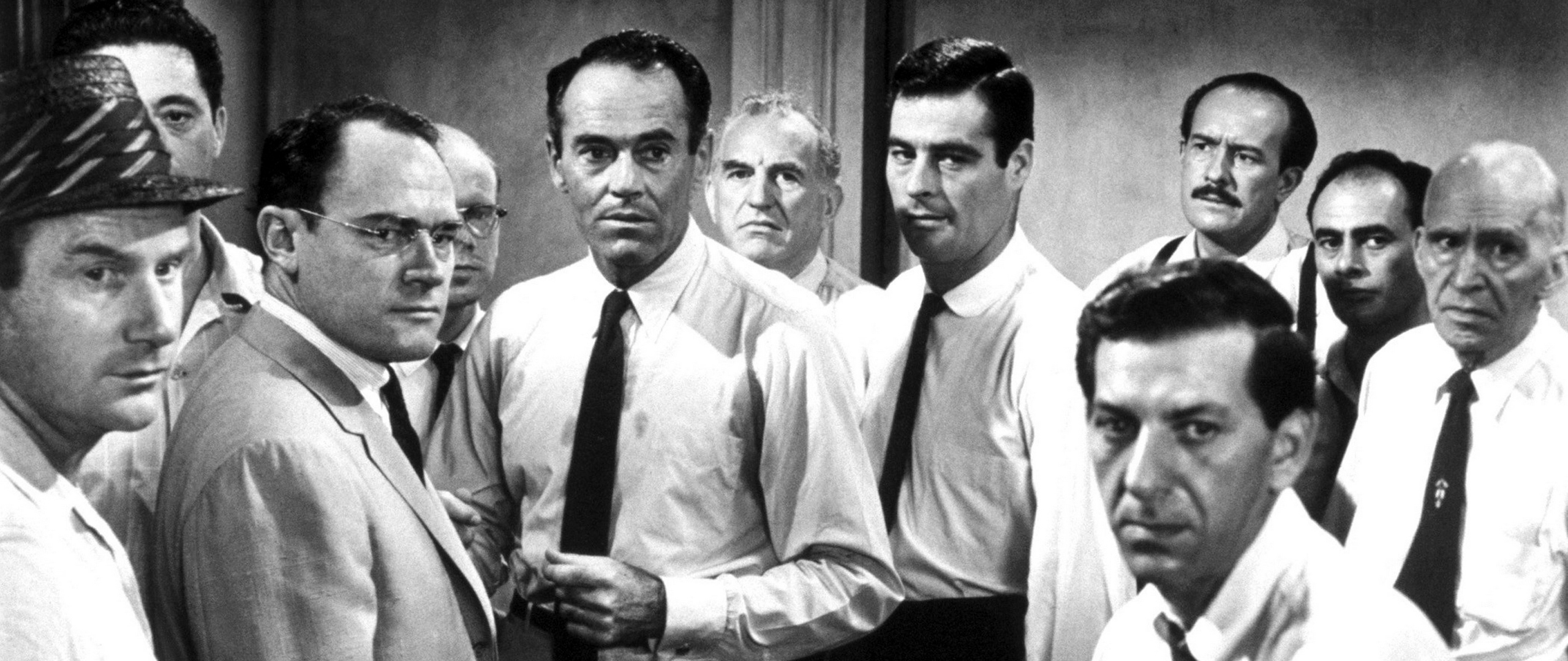 Download wallpaper 2560x1080 12 angry men men actors black 2560x1080