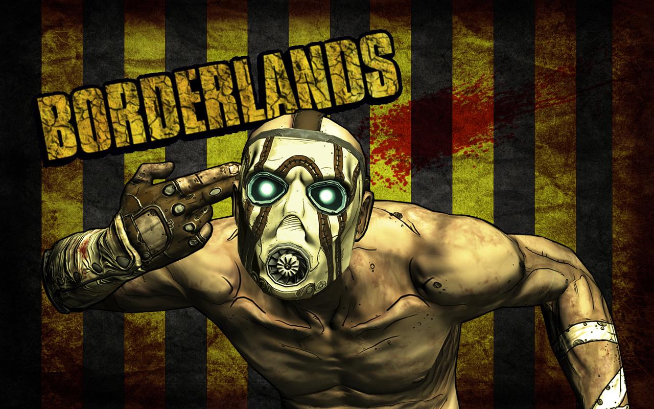 Borderlands Psycho Wallpaper w Bloodspatter by feferest 1280x800