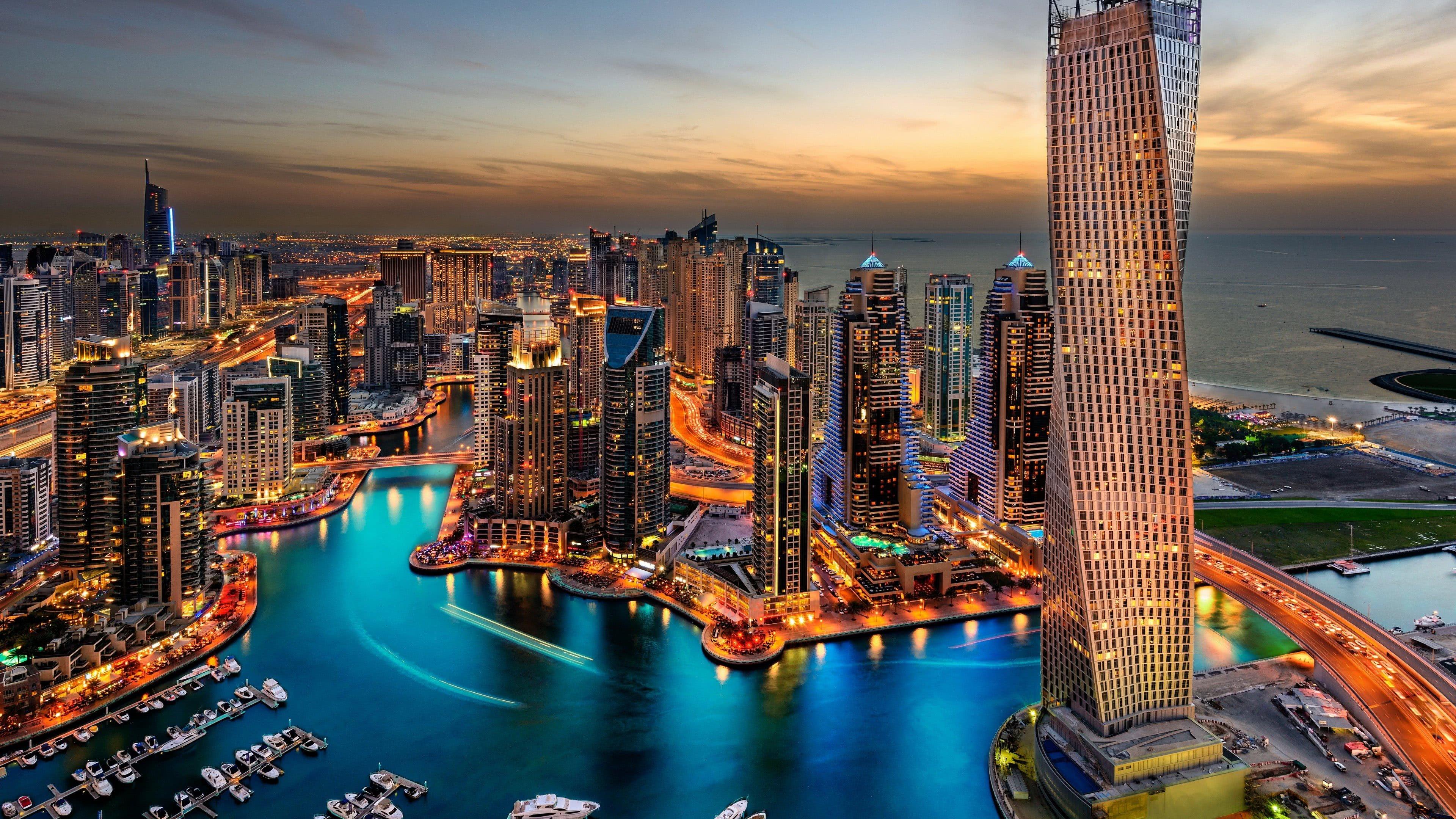 Dubai Skyscrapers United Arab Emirates UHD 4K Wallpaper Pixelz 3840x2160