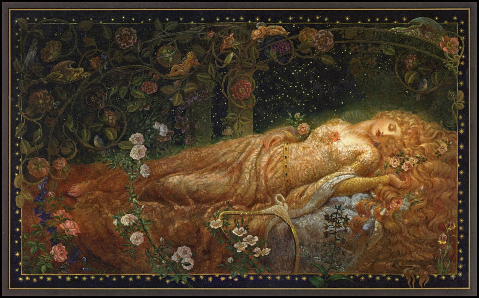 Illustration for Sleeping Beauty Sleeping Beauty is a classic 1600x997