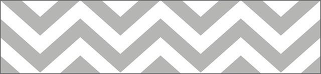 Chic Chevron Wallcoverings Silver Gray Border 13 Sq Ft Casart 640x148