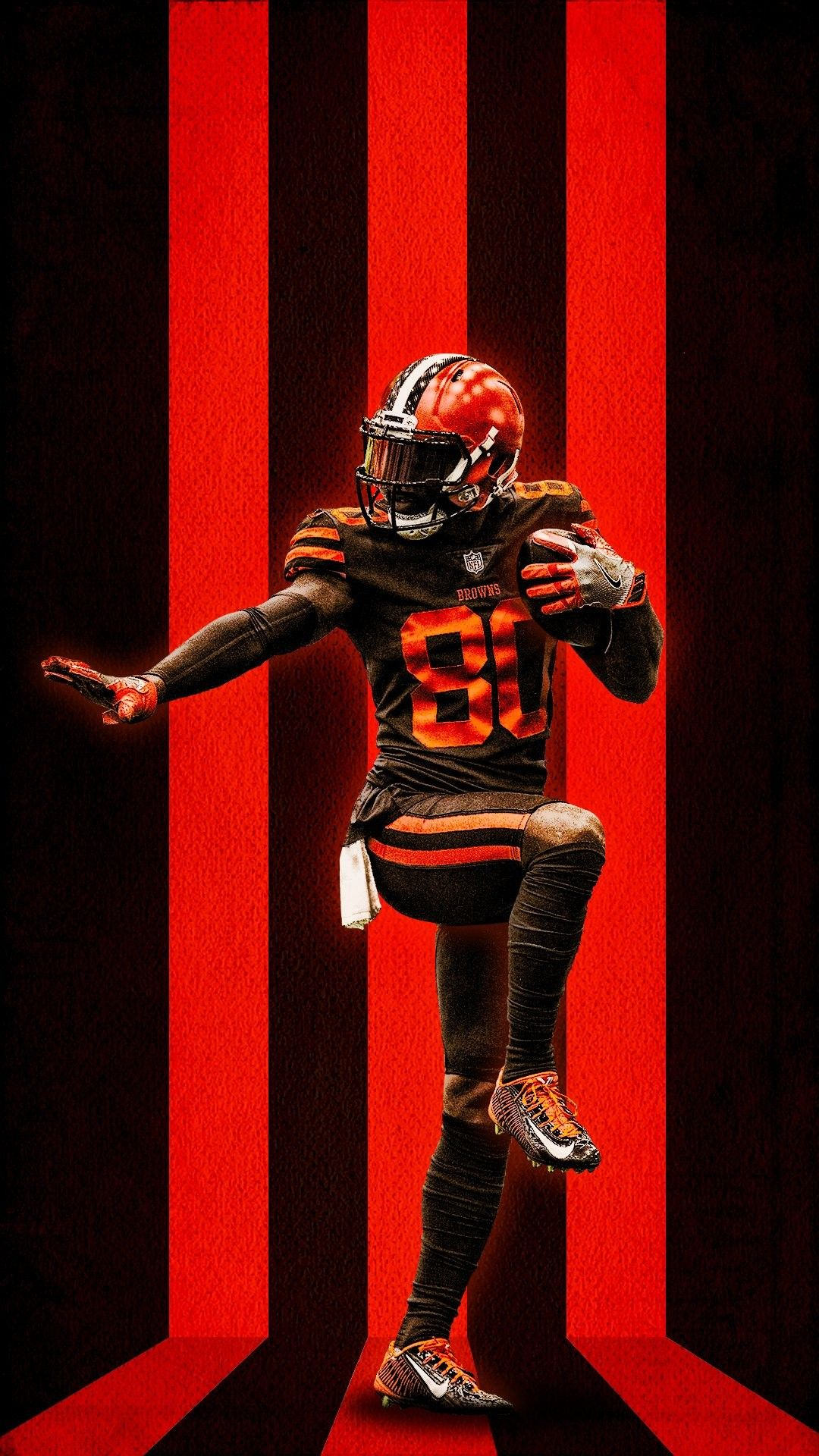 Browns Jarvis Landry Dawg Pound Cleveland browns wallpaper 1080x1920