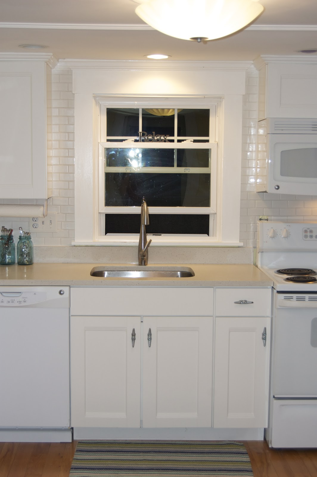 White Subway Tile Backsplash Kitchen Featuring White Kitchen Furniture 1064x1600