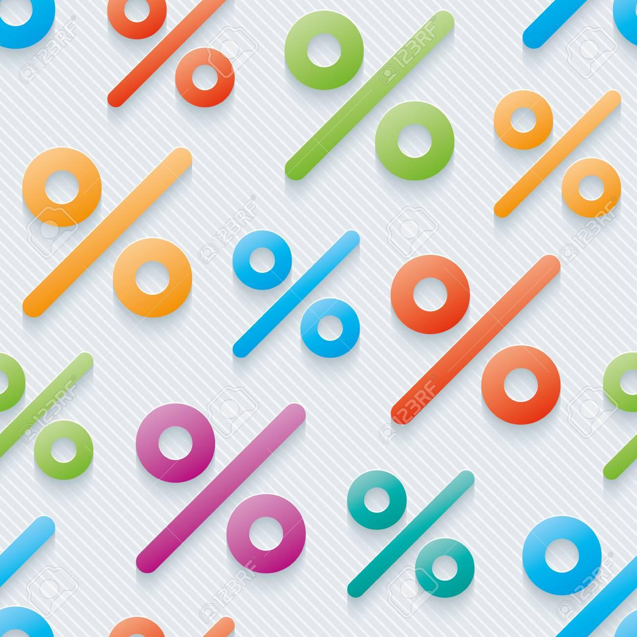 Multicolor Percent Symbols Wallpaper 3d Seamless Background 1300x1300