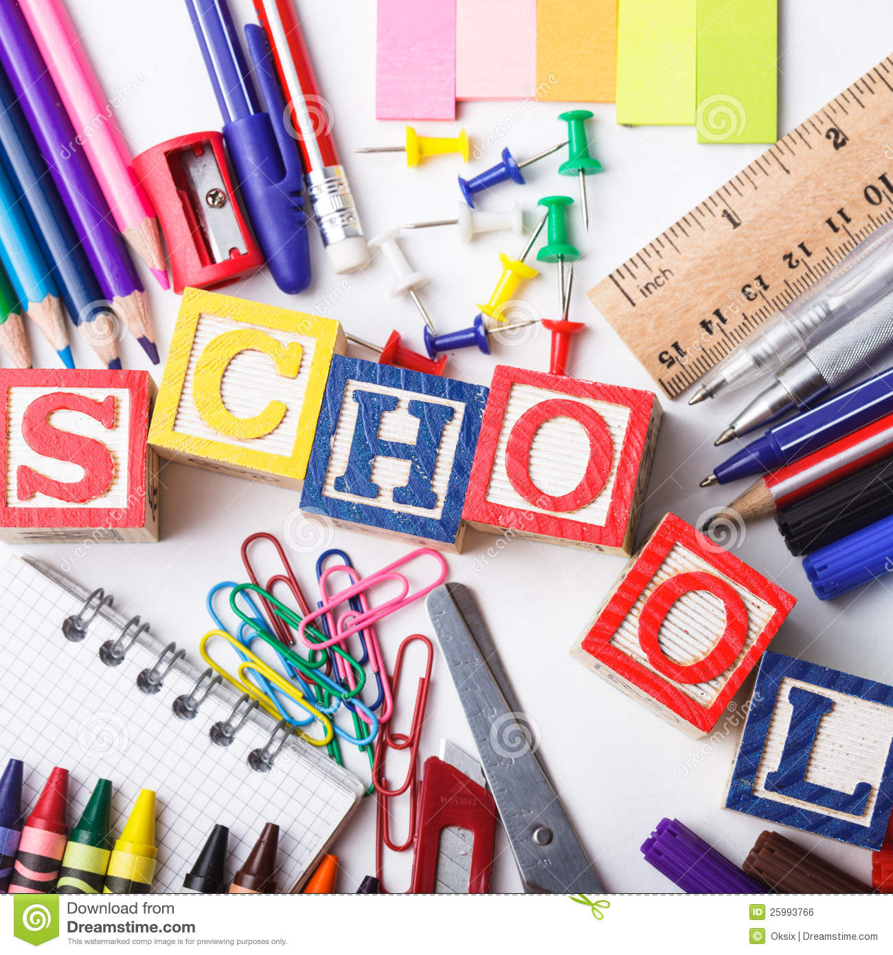 primary school stationery on a white background primary school 1300x1390