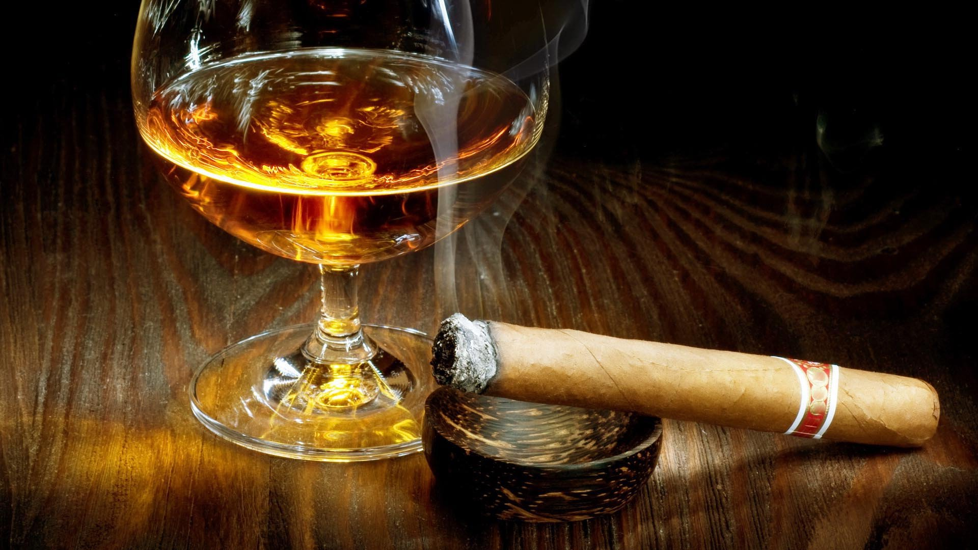 tobacco bokeh smoke smoking cigar drink alcohol drinks glass wallpaper 1920x1080