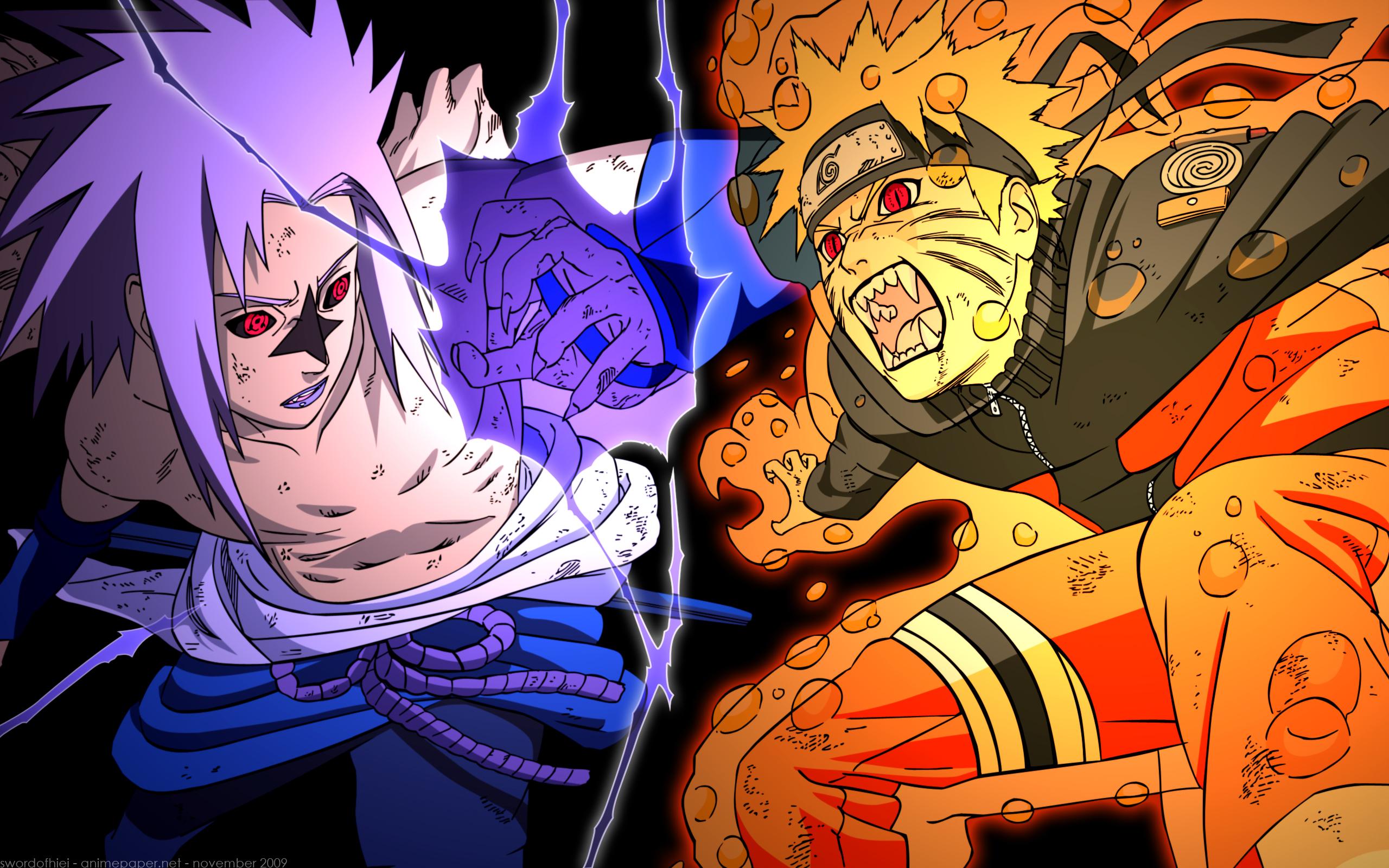 Naruto Nine Tails Mode Naruto Vs Sasuke Shippuden Images Naruto 2560x1600