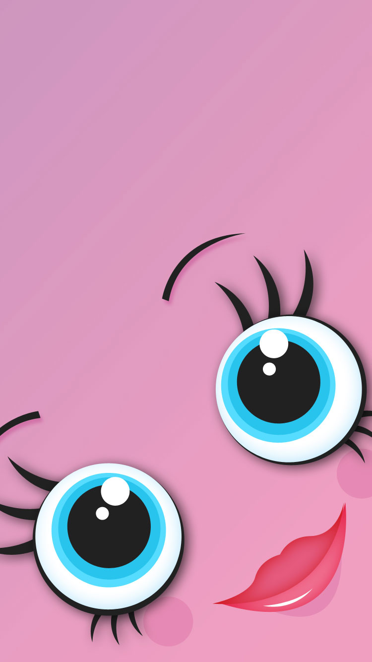 Girly Pink iPhone 6 Wallpaper 750x1334
