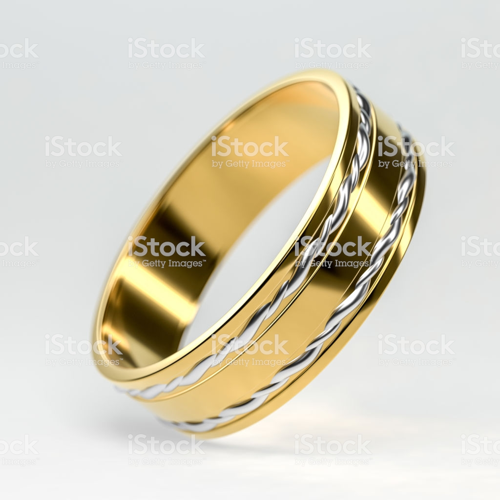 Golden Wedding Ring Isolated Wedding Rings Background Concept 3d 1024x1024