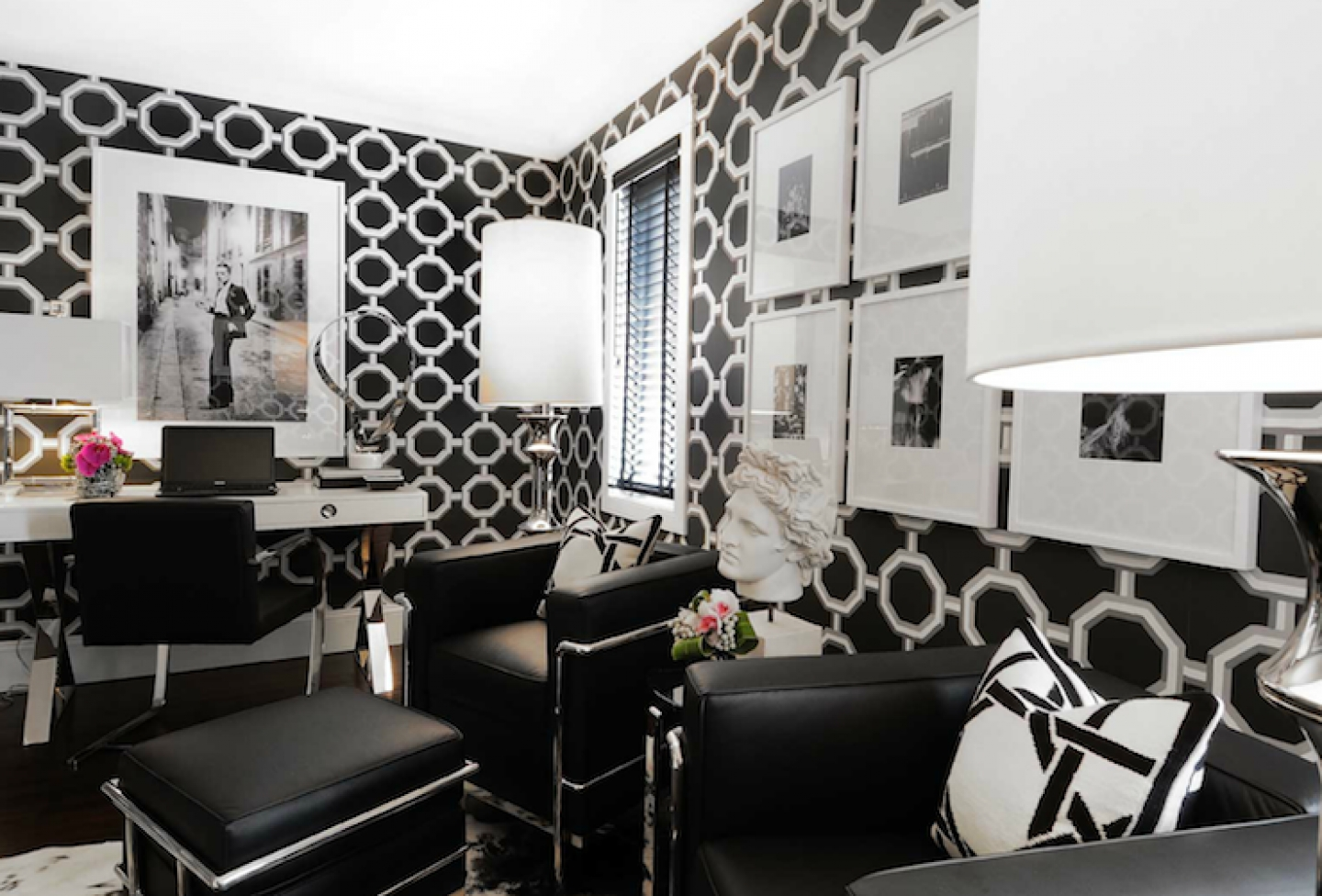 tags black black and white geometric wallpaper houses interior 1440x976