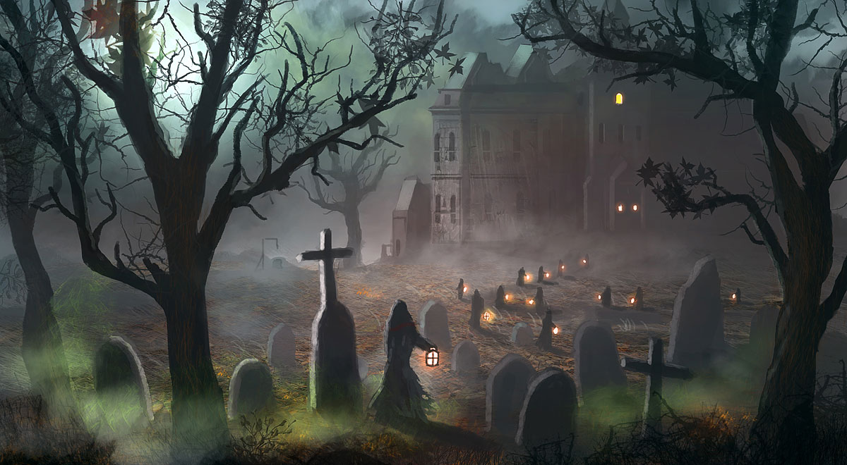 Scary Halloween Backgrounds Wallpaper Collection 2014 1200x660