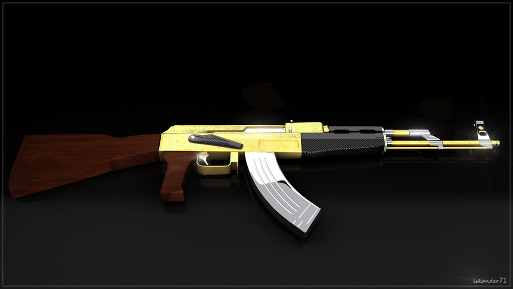 Gold Ak 47 Wallpaper Ak47 gold and carbone by 1024x576