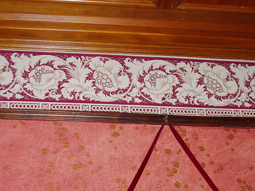 crown molding and wallpaper Flickr   Photo Sharing 500x375