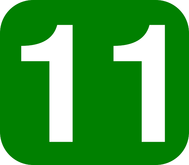 Green White Number 11 Download Foto Gambar Wallpaper 640x561