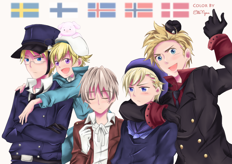 Hetalia Nordic 5 Wallpaper Nordics yay by ellenyan 764x541