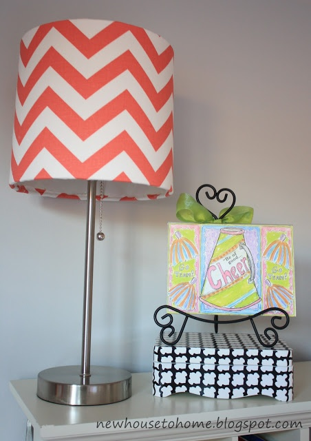 Target lampshade with pretty fabric and Elmers Spray Adhesive 452x640