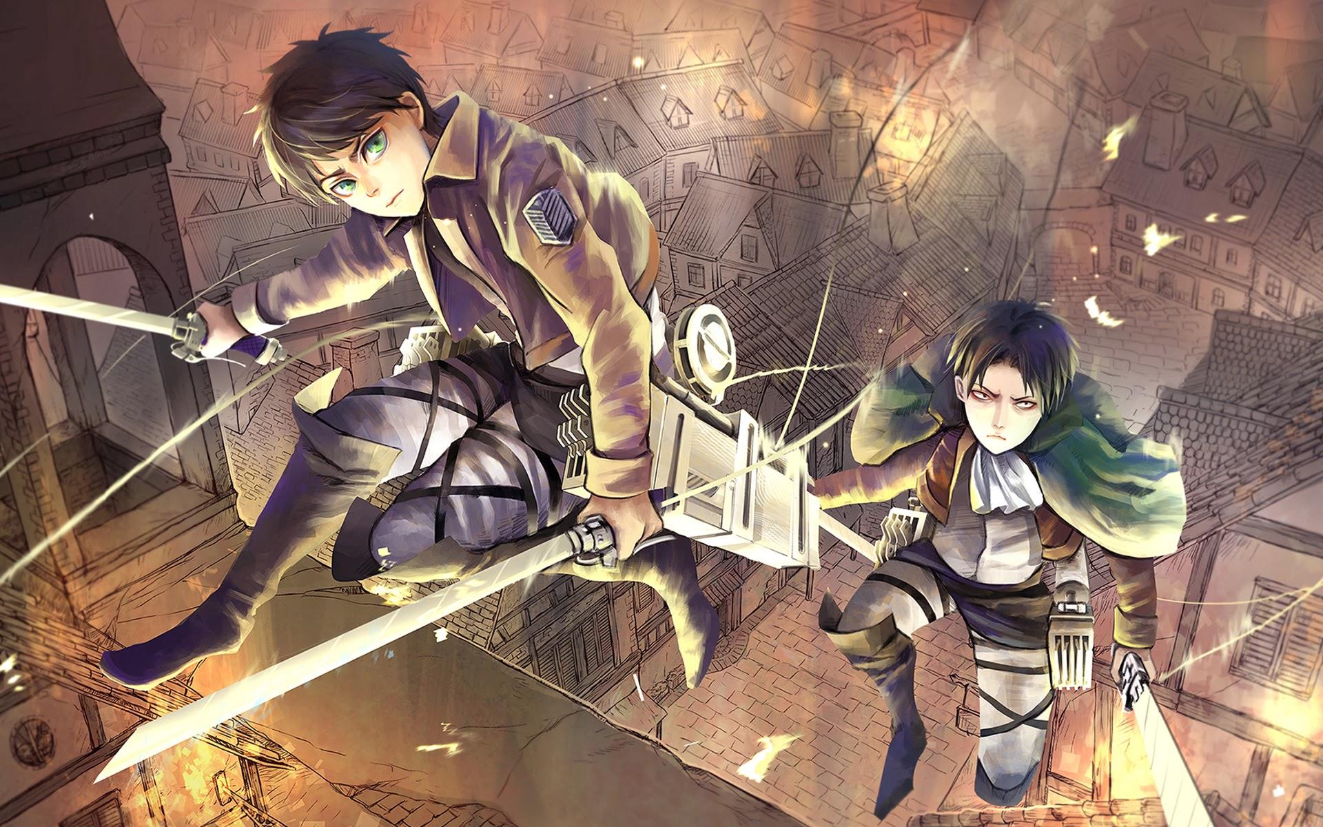 eren yeager levi attack on titan shingeki no kyojin anime hd wallpaper 1920x1200