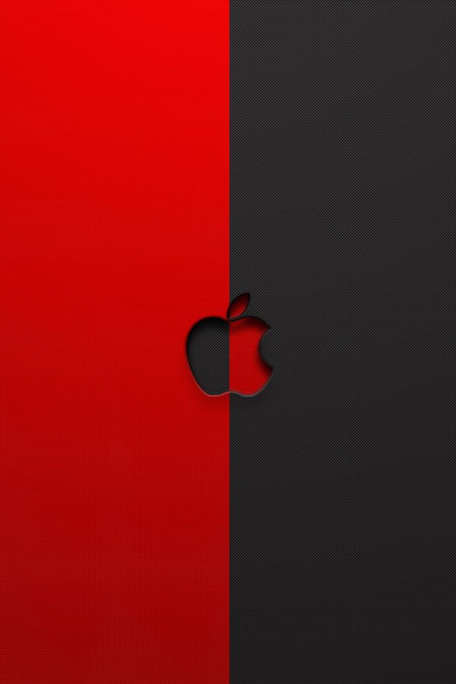 9b792b9e945a26 Red and Black Apple Logo iPhone 6 6 Plus and iPhone 54 Wallpapers 640x960