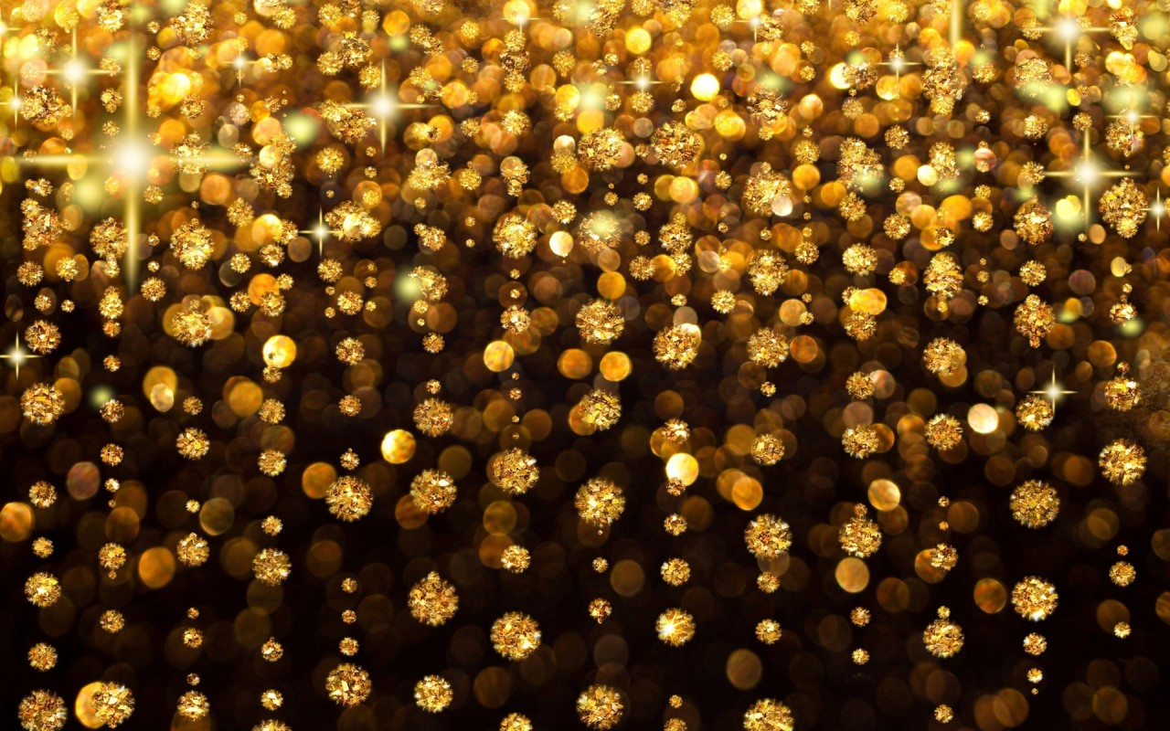 Light gold abstract celebration background with soap bubbles 1280x800