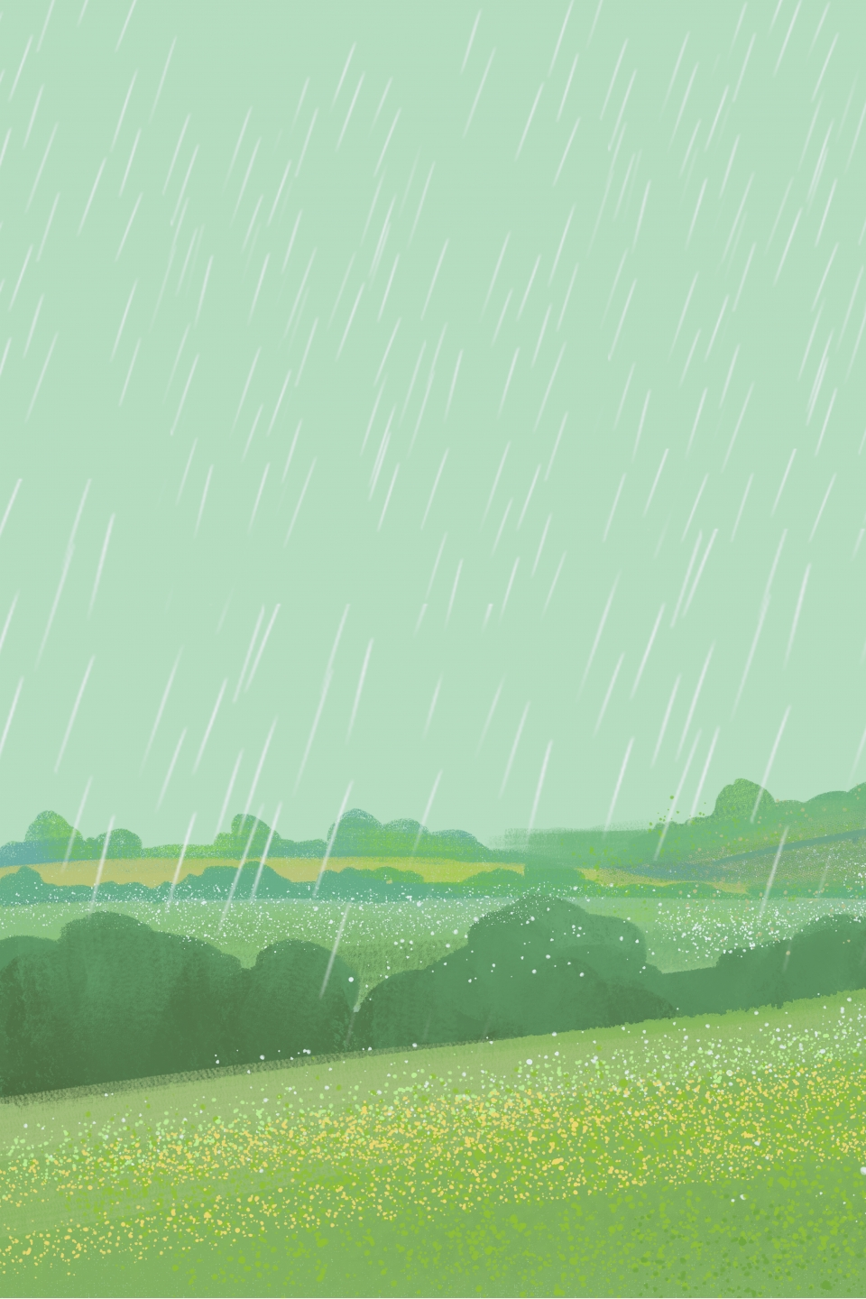 Simple And Fresh Raining Pastoral Poster Background Simple Cute 960x1440