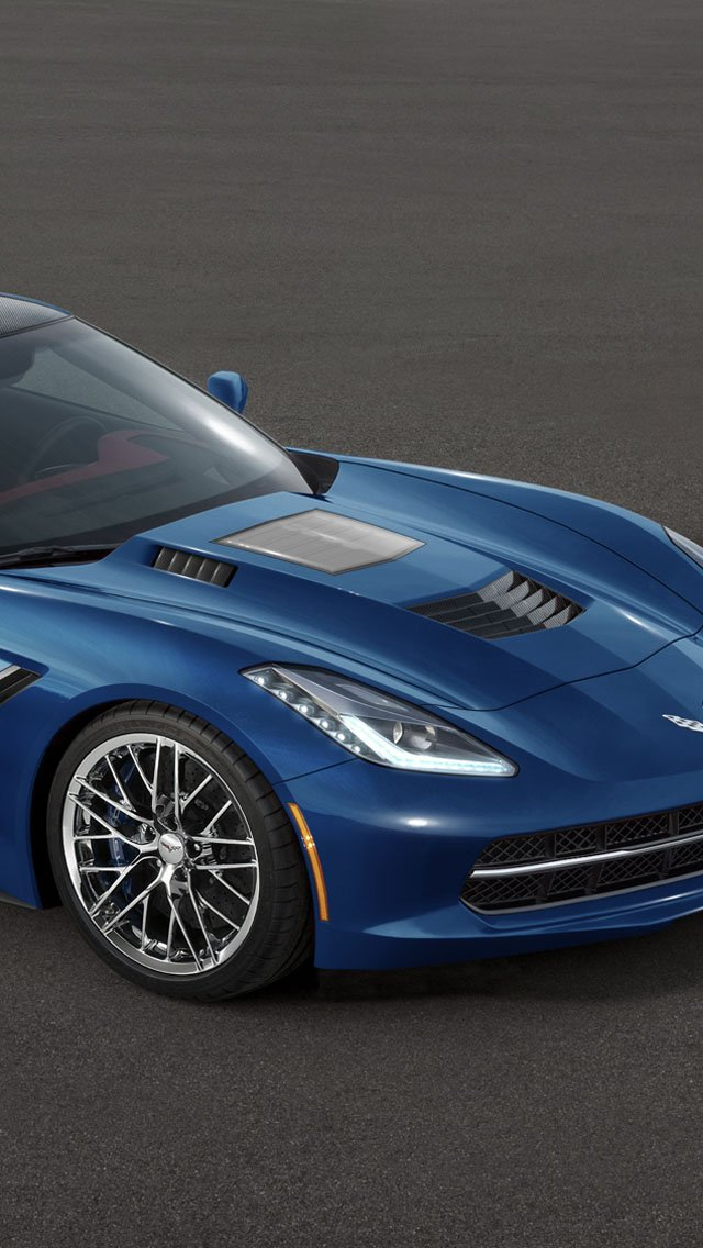2015 Corvette C7 ZR1 iPhone 5 5S 5C Wallpaper and Background 640x1136