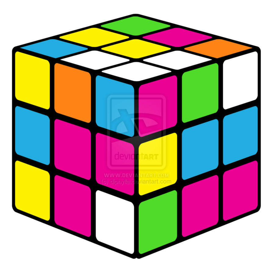 80s Neon Wallpaper 80s neon rubiks cube by 894x894