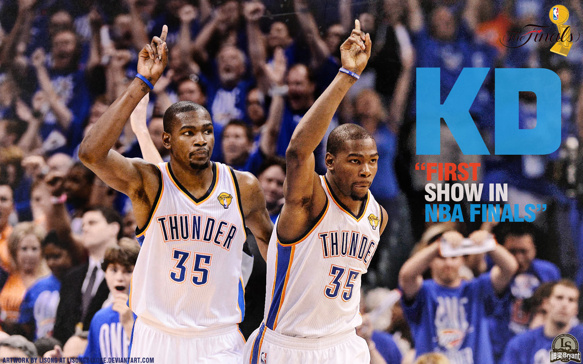 Kevin Durant And Russell Westbrook 2015 Wallpapers 1920x1200