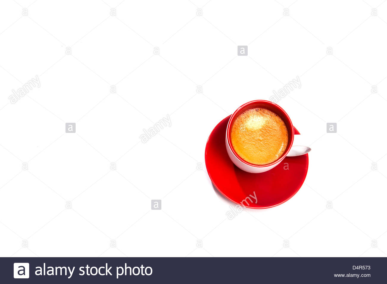 Expresso in cup on white background Stock Photo 54598743   Alamy 1300x953