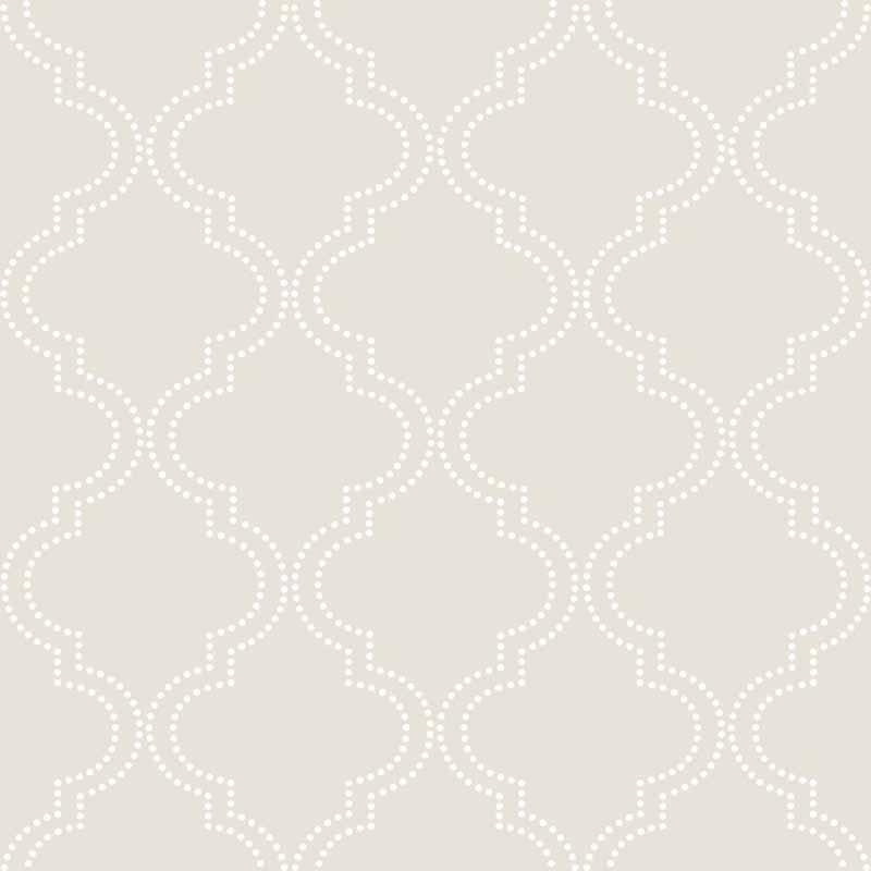 Taupe Quatrefoil Peel And Stick NuWallpaper   RosenberryRoomscom 800x800