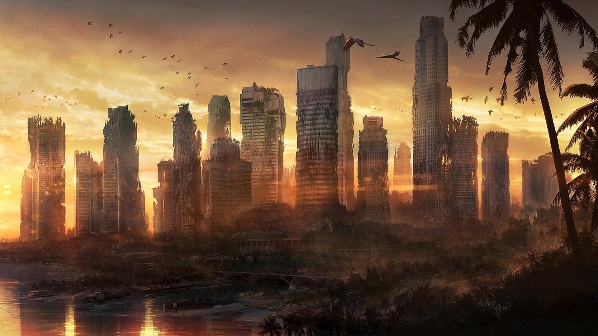 Apocalypse City Fire Apocalyptic Wallpaper ...