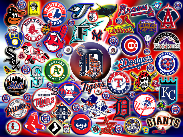 MLB Logo Wallpaper  WallpaperSafari