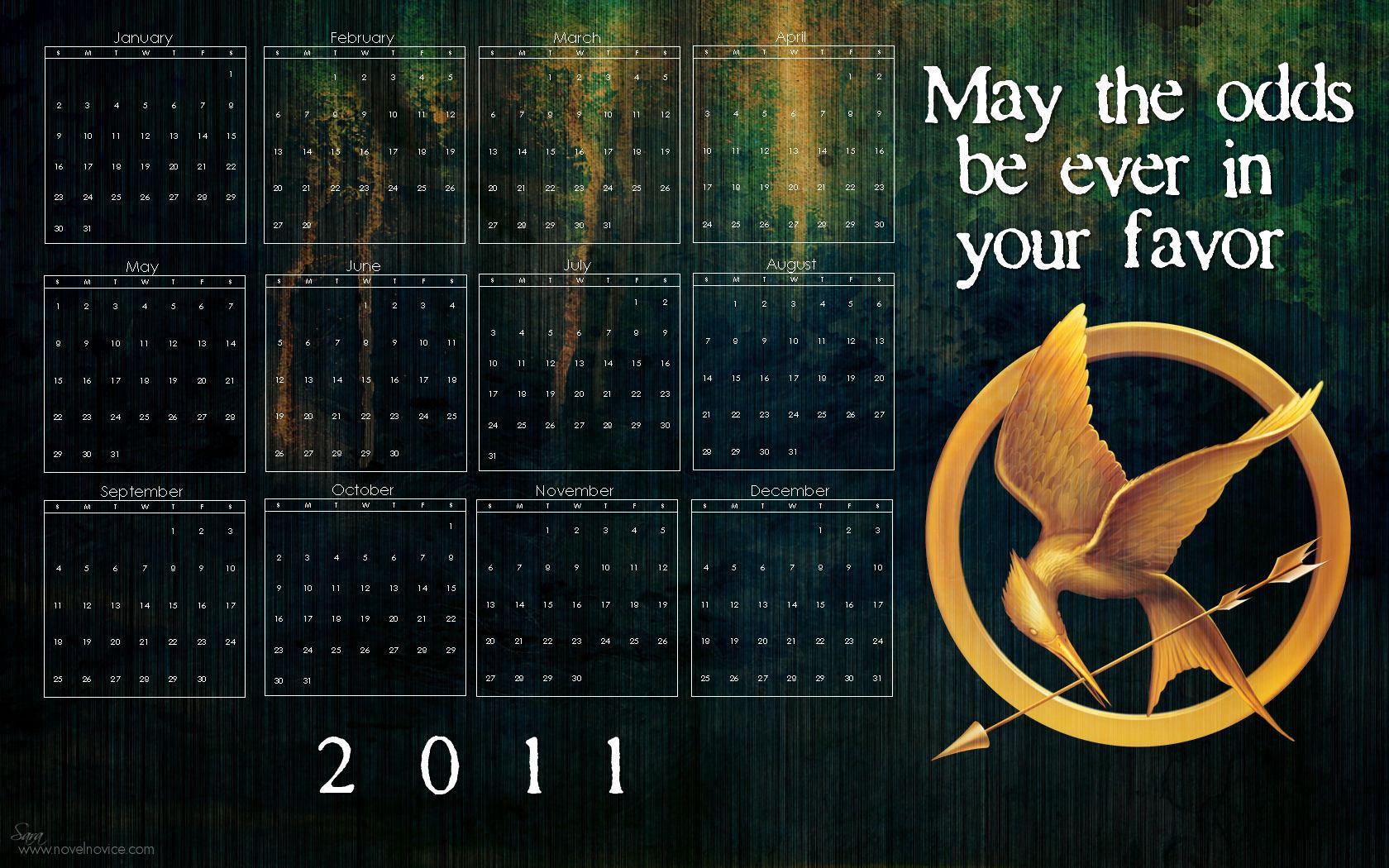 The Hunger Games 2011 Calendar Wallpaper   The Hunger Games Wallpaper 1680x1050