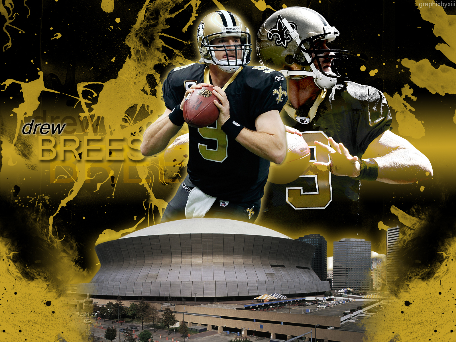 Drew Brees wallpaper graphixbyxiii 1600x1200
