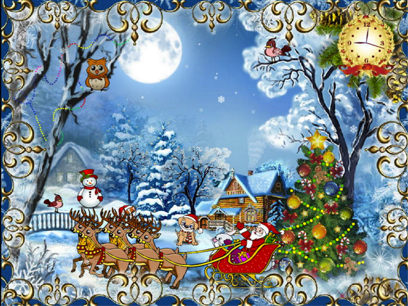 49+ Animated Christmas Wallpaper with Music on ...