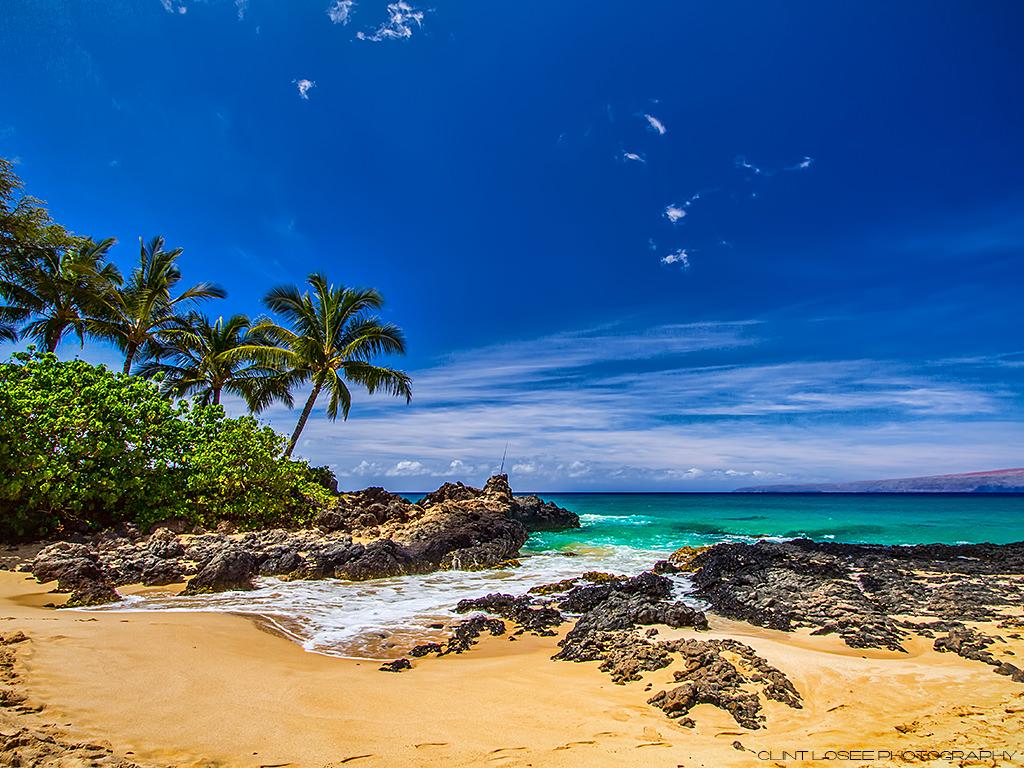 Maui Hawaii Makena Cove Beach Secret Beach Wallpaper   Download 1024x768
