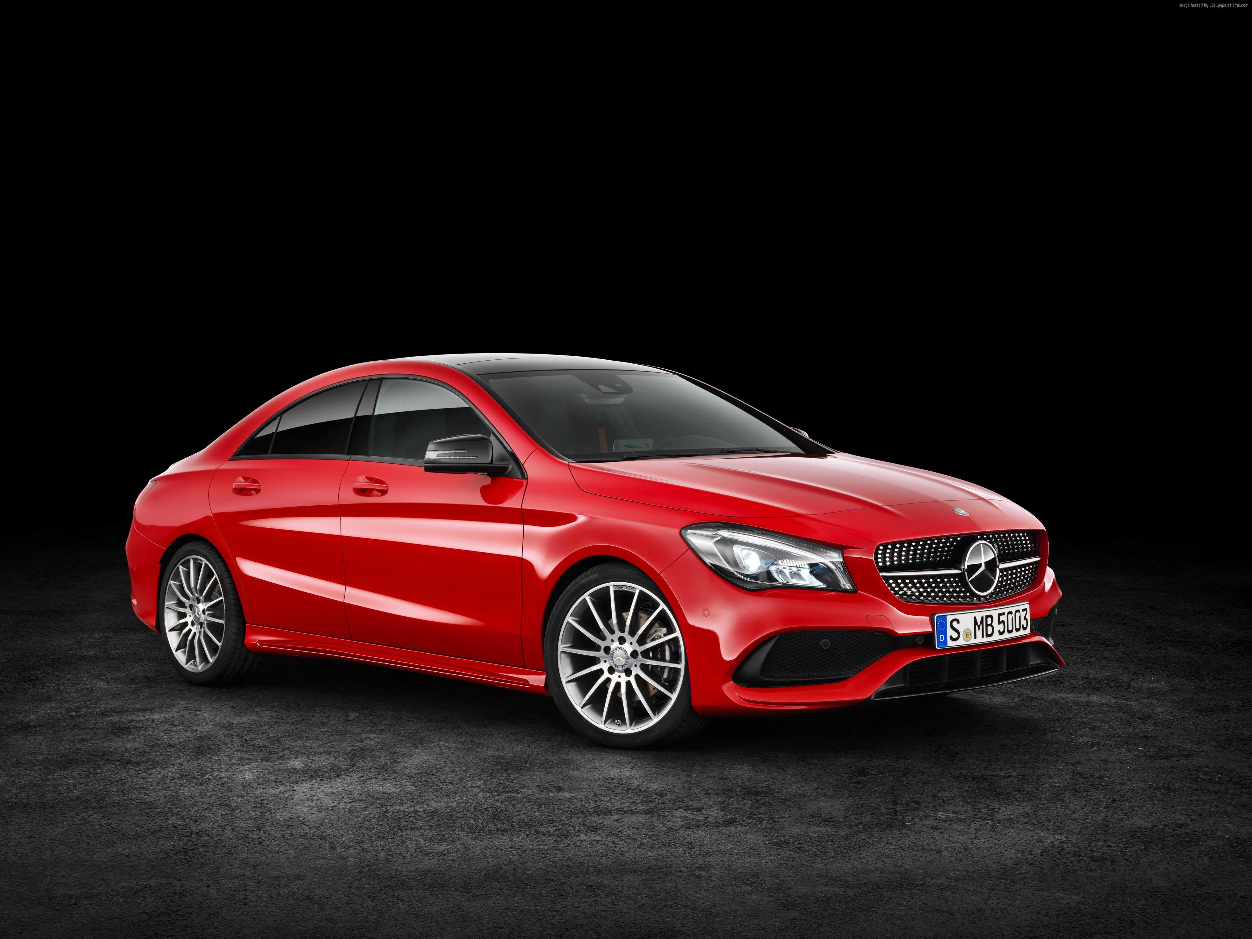 110172 red NYIAS 2016 Mercedes Benz CLA 200 d 4MATIC AMG 4096x3070
