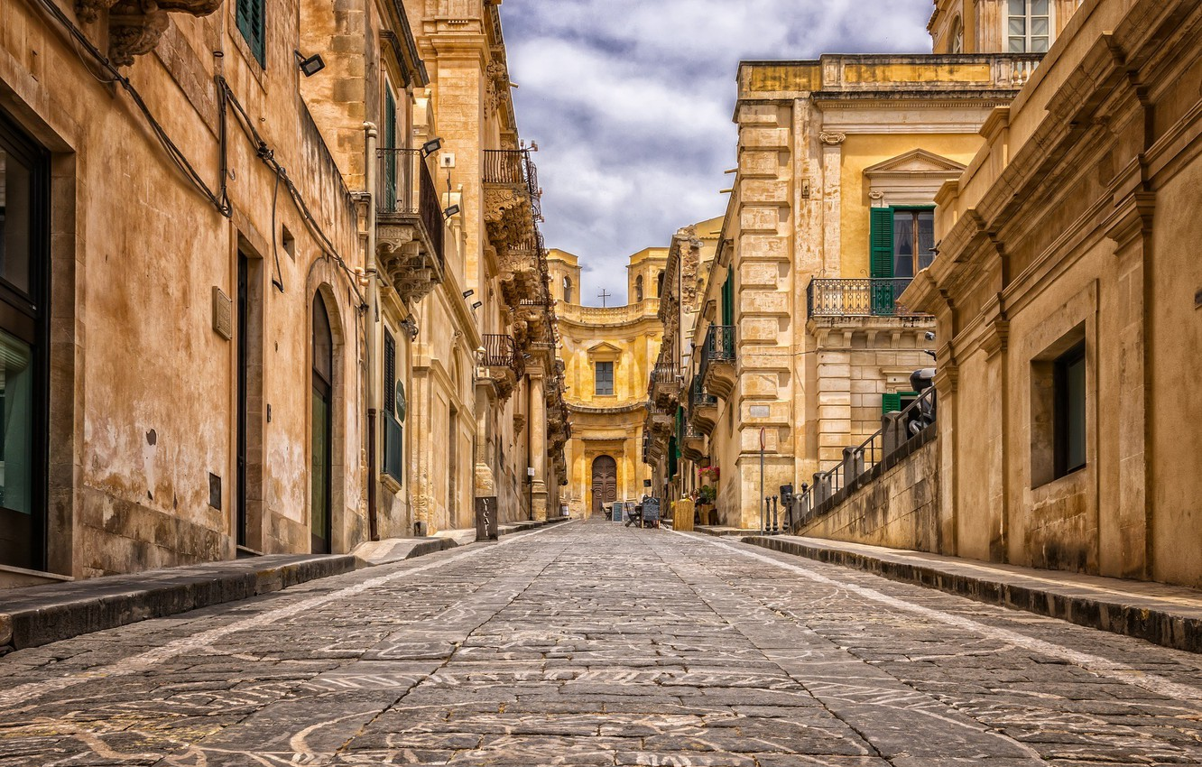 Wallpaper the city street Italy old town Record Palermo 1332x850