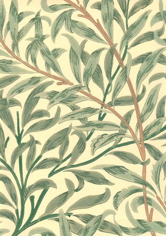 Willow Boughs Wallpaper Climbing willow leaf print wallpaper green on 534x759