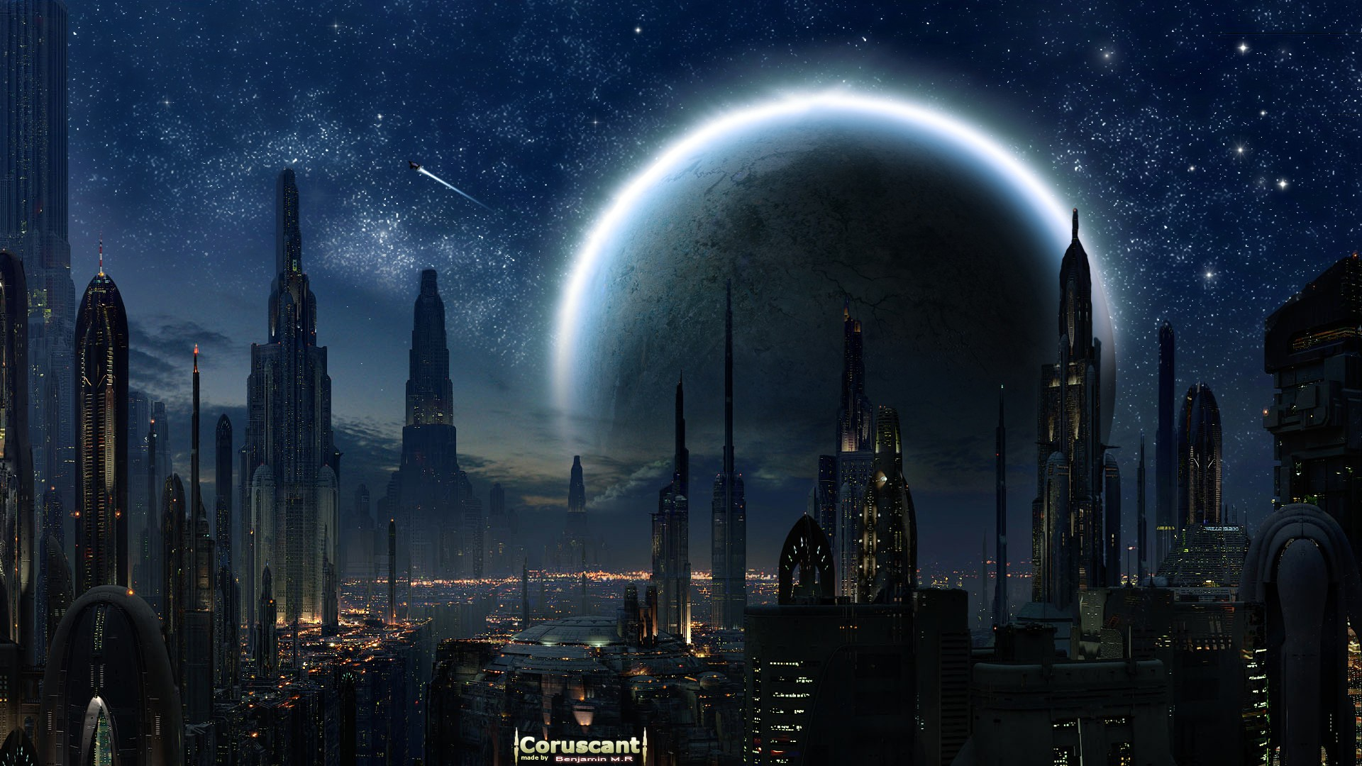 Star Wars Wallpaper 1920x1080 Star Wars Cityscapes Futuristic 1920x1080