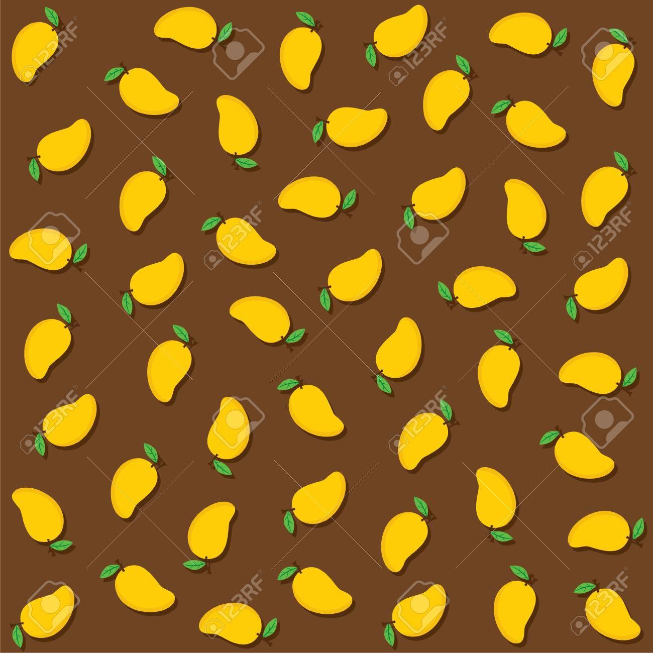 Fresh Mango Fruit Pattern Background Design Vector Royalty 1300x1300