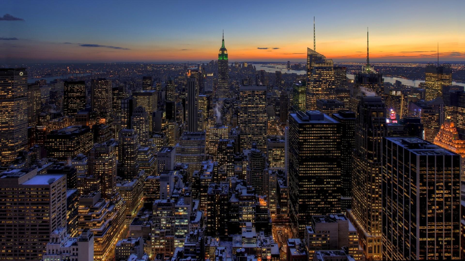 Free Download High Resolution New York Skyline At Night