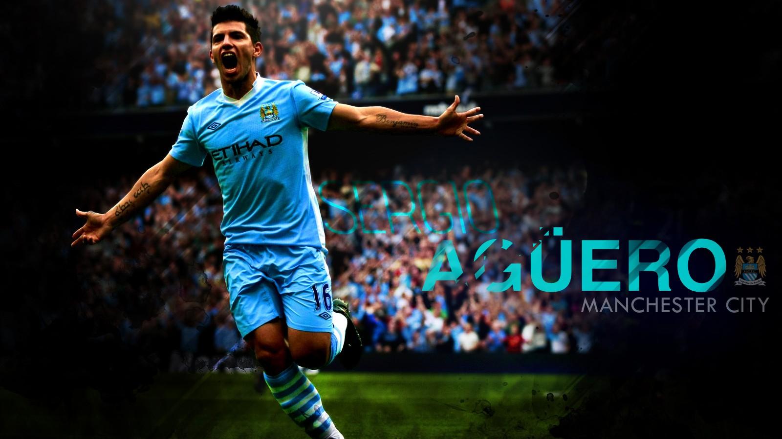 Sergio Aguero Manchester City Wallpaper Download 1600x900