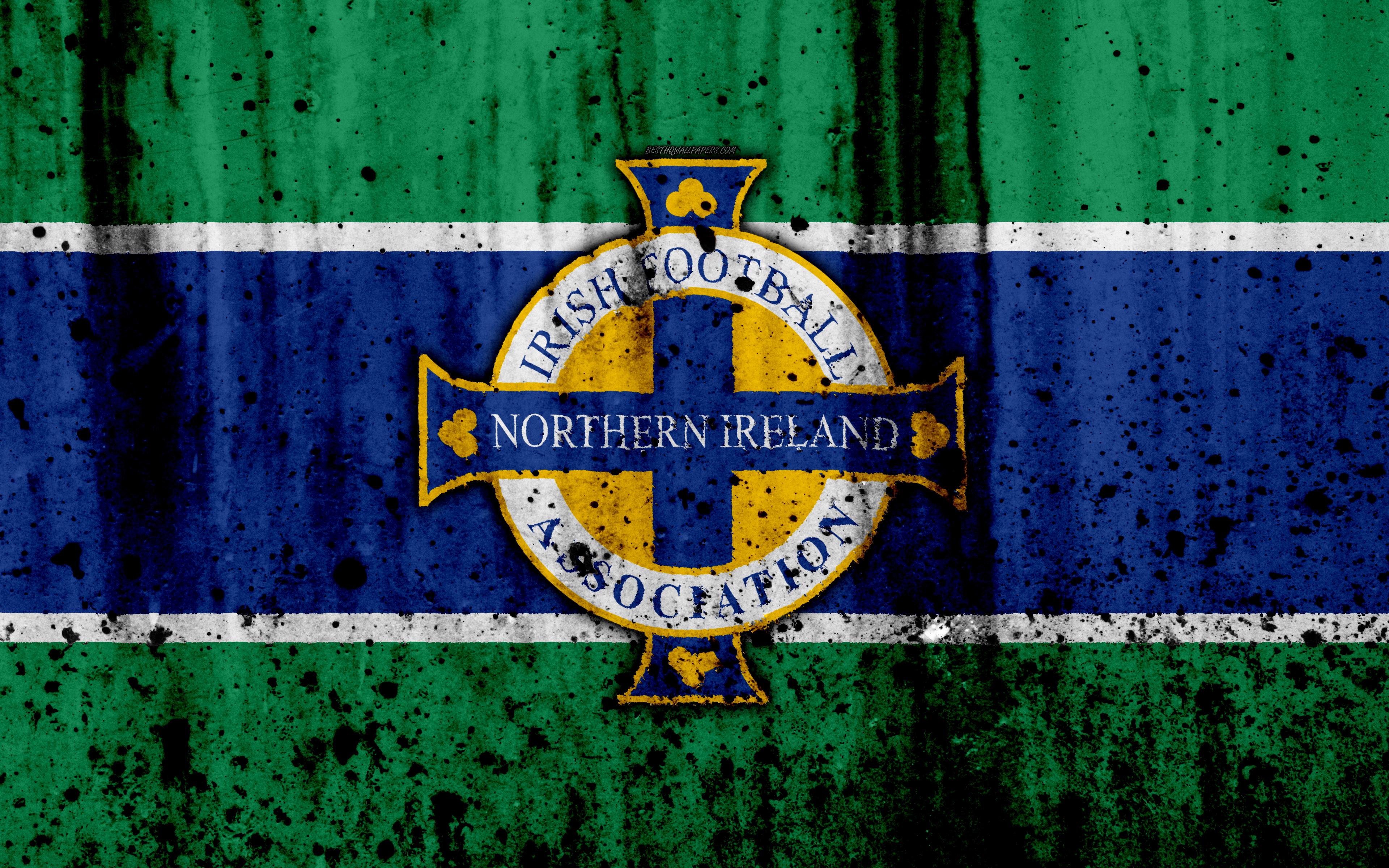 Download wallpapers Northern Ireland national football team 4k 3840x2400