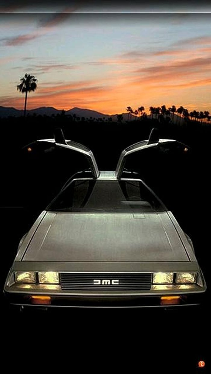 A very nice Delorean DMC 12 Phone background 700x1241