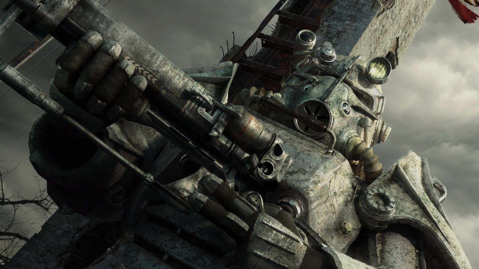 CGI Brotherhood Of Steel Fallout 3 washington monument wallpaper 1920x1080