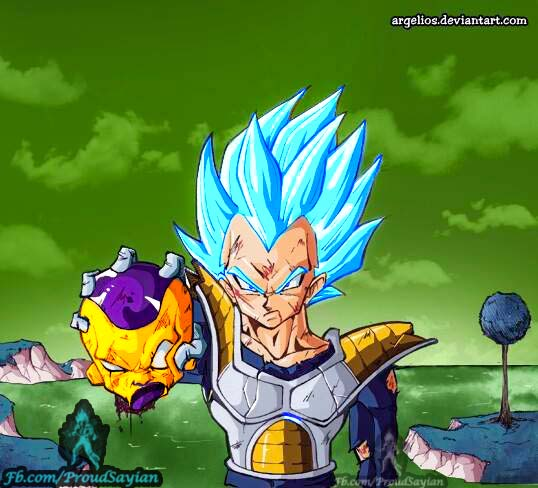 Super saiyan god super saiyan Vegeta by Megamody 538x488